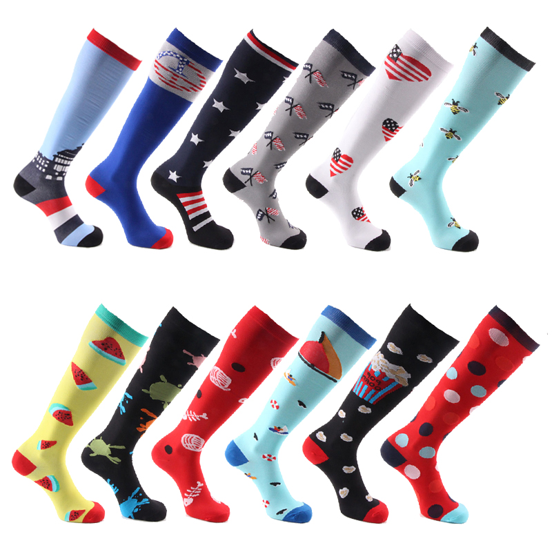 Compression Socks Men & Women Fit Running,Nurses , Flight Travel & Maternity Pregnancy - Boost Stamina, Executive Length Fancies
