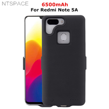 NTSPACE 6500mAh For Xiaomi Redmi Note 5A Battery Charger Cover Cases For Redmi Note 5A Power Bank Case External Battery Case