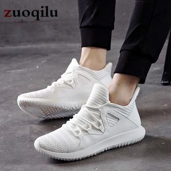 f8e529e1a Белая мужская повседневная обувь, легкие дышащие туфли на плоской подошве, мужская  обувь, лоферы, повседневная обувь, мужская обувь, Chaussure, р.