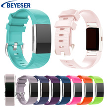 19 colors smart Bracelet Band for Fitbit Charge 2 Watch Silicon Strap Charge2 Sport Replacement Watchband