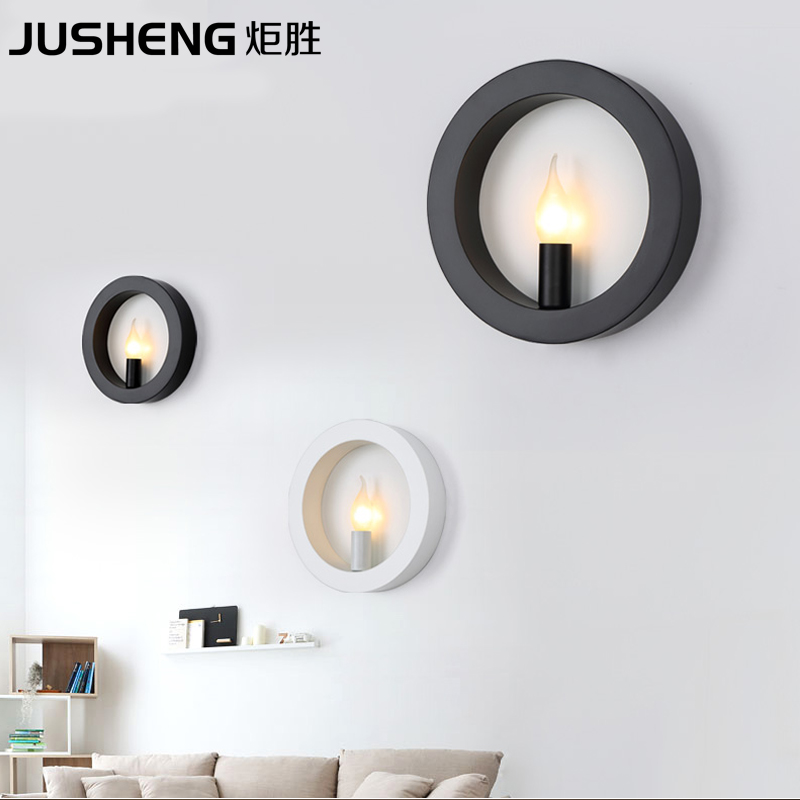Modern minimalist Wall Hotel project lighting creative Nordic living room bedroom corridors iron wall lamp modern creative iron wall lamp living room bedroom bedside wall lamp led lighting led lamp wholesale creative hotel