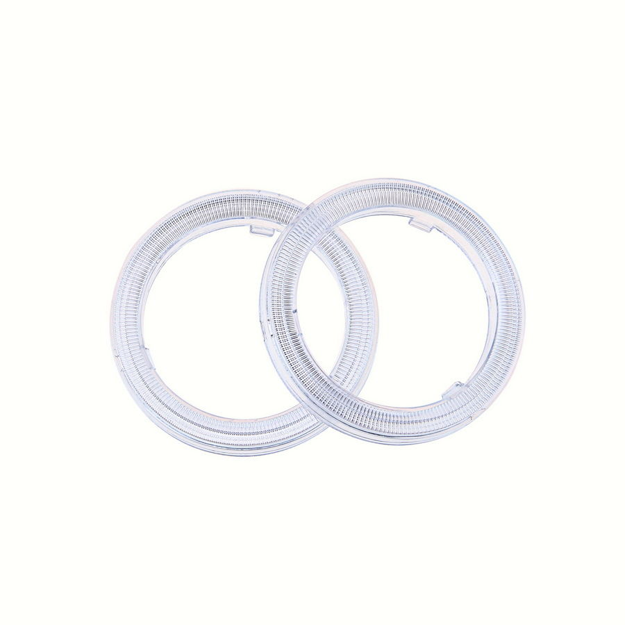 Universal 1 Pair 60/70/80/90/100/110mm Clear Plastic Len Cover LED COB Car Auto Angel Eye Halo Ring Car-Styling