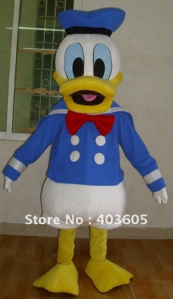 2012 Hot Sale! Donald Mascot Costume Duck Coctume Christmas Birthday Party Dress - Shenzhen Childlike Cartoon Costumes Factory store