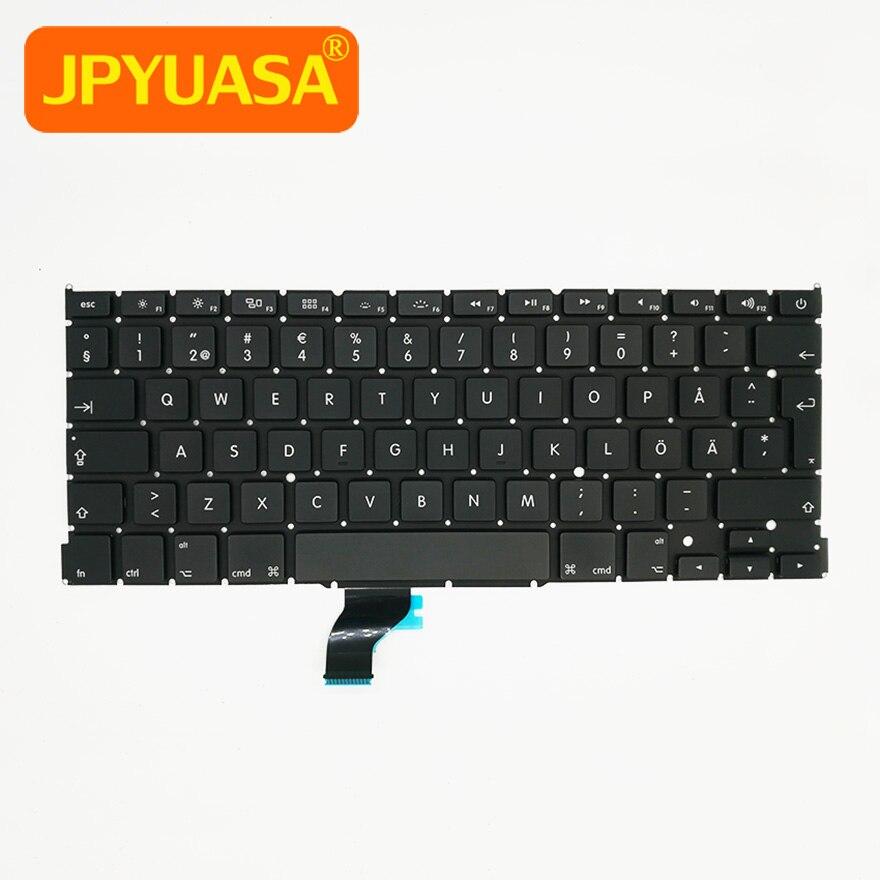 5pcs lot AC07 version New Sweden Swedish keyboard For Apple Macbook Pro 13 Retina A1502 1