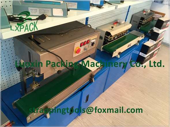 цены LX-PACK Lowest Factory Prices FRD-1000 Horizontal Continuous Heat Band Sealer,Plastic Film Heat Sealing Mahcine With Date Coding