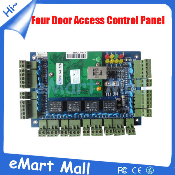 Free Shipping TCP/IP Four Door Access Control Panel/access control board/access control system free shipping by dhl tcp ip four door access controller 4 door access control panel access control board