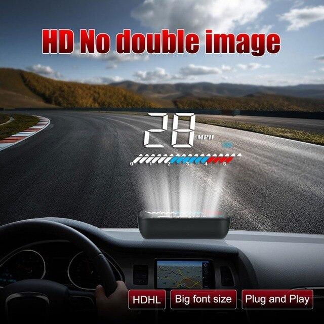 Nouveau M7 OBD2 à bord Hud GPS voiture tête haute affichage avertissement de survitesse ordinateur pare-brise projecteur capteur de lumière accessoires de voiture