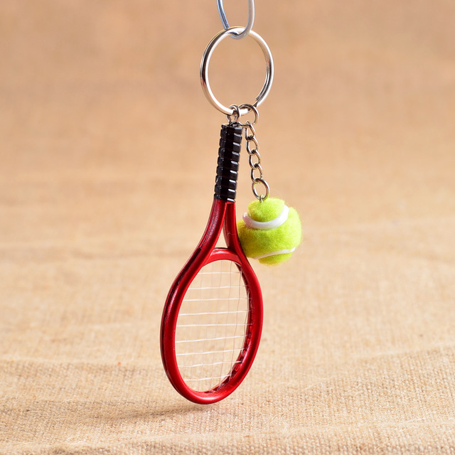 Cute sport mini tennis racket pendant keychain keyring key chain cute sport mini tennis racket pendant keychain keyring key chain ring finder holer accessories gifts for mozeypictures Choice Image