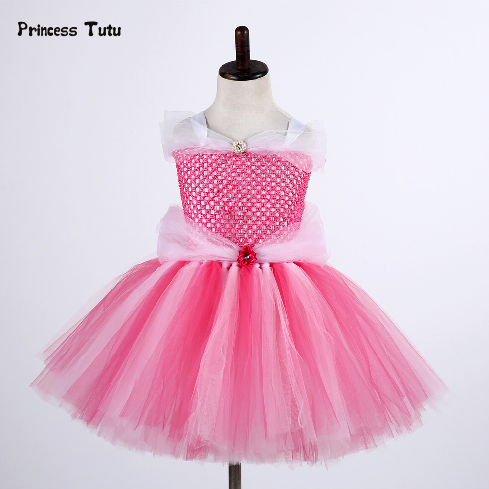 Fancy Princess Sleeping Beauty Aurora Girl Dress Cute Tutu Dress Kids Christmas Halloween Cosplay Costume Girl Party Tulle Dress free shipping lt1016cs8 new ic sop8 10pcs lot