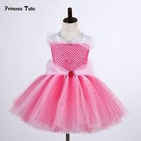 Fancy Princess Sleeping Beauty Aurora Girl Dress Cute Tutu Dress Kids Christmas Halloween Cosplay Costume Girl