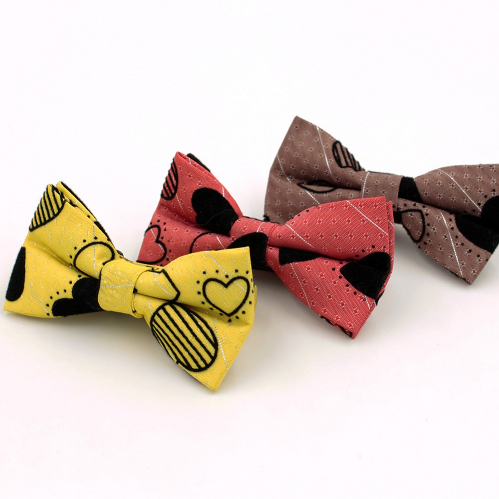 1pc/lot New Lovely Boys Girls School Fashion Bow Tie For Kids Bowtie Red Yellow Baby Butterfly Cravat Gravata