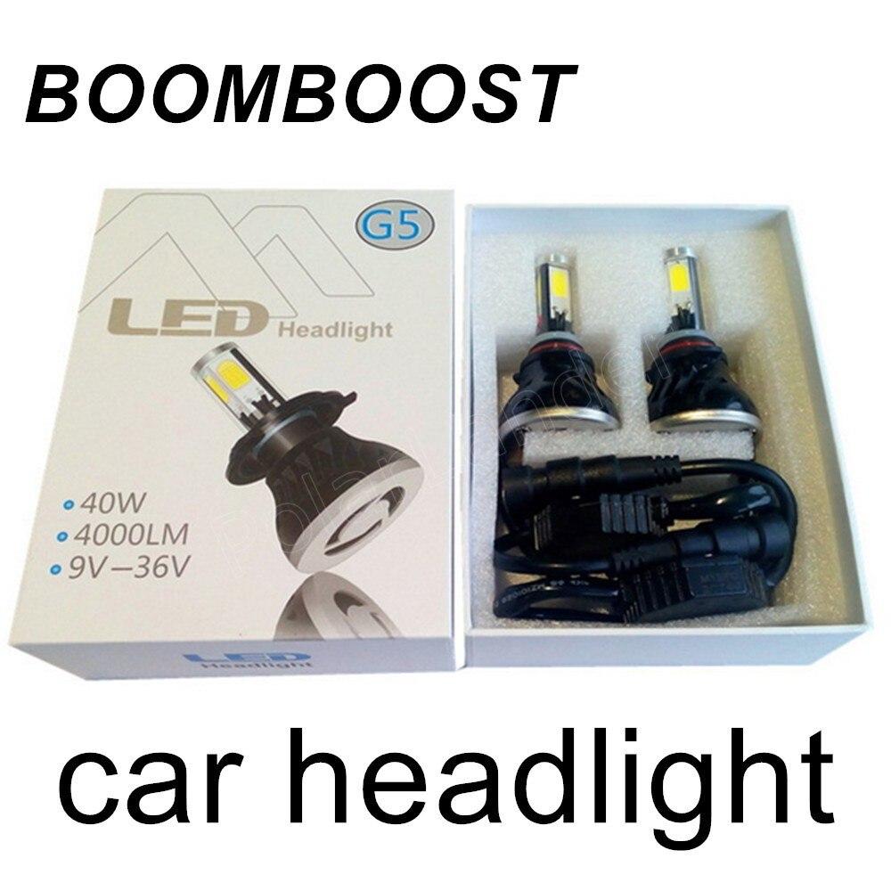 2 pieces Led Car Headlights Light Bulbs Headlamp Fog Lamps 9006 HB4/H7/H8 H9 H11/H10 9005 HB3/H16 5202 12V 24V BOOMBOOST new 2016 2pcs xml2 car led 12 24v 2000lm car lamps headlights fog light h7 h11 h8 hb3 hb4 9005 9006 free shipping