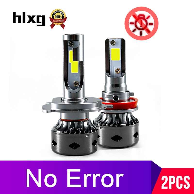 HLXG 12000Lm Canbus h7 mini led light for car motorcycle led H4 H8 H11 No Error fog light H1 HB3 9006 6000K 4300K 5000K 8000K