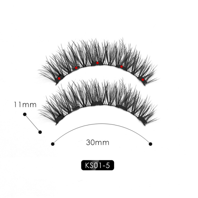 Genailish 5 magnets eyeashes for magnetic eyeliner magnetic eyeashes false eyelash for dropshipping 2
