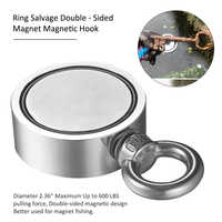 Super Strong Magnet Double Sided Fishing Magnet, Combined Pulling Force Super Strong Neodymium Round Magnet for Magnetic Fishing