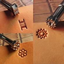 De trabajo de cuero silla haciendo herramientas de artesanía de cuero sellos 1 piezas de estampado en relieve molde