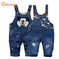 Babyinstar 2017 Kids Denim Overall for Girls Cartoon Pattern Jeans Cowboy Trousers Boys Jumpsuit for 0-2 Yrs Baby Boy Overall
