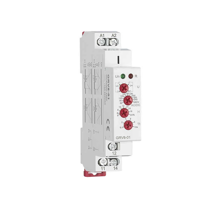 цена на Din Rail Single Phase Monitoring Voltage Relay Industrial Control Overvoltage Undervoltage Protection Relay GRV8-01/02