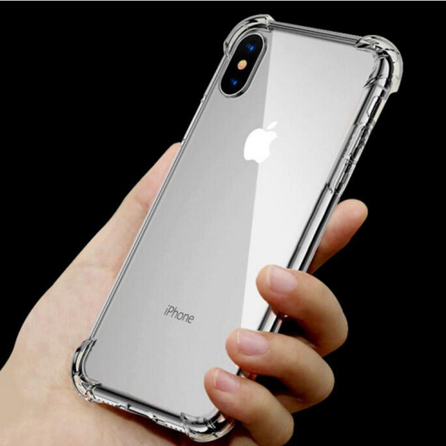 innovative design 4a986 6e48a US $1.99 |Transparent Soft Silicone Case for iPhone X XR XS Max Shockproof  Matte Rubber Case Cover for iPhone 8 7 6 6S Plus iPhone SE 5 5S-in Fitted  ...