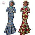 Africano ropa mujer manga larga dress dress vestidos de fiesta de noche sexy mermaid dress regalo de navidad más el tamaño 6xl brw wy556
