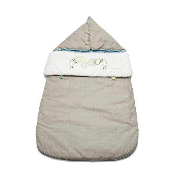 French Popular 100% Cotton Embroidered Baby Sleeping Bags, Newborn Swaddle with Caps, Autumn & Winter цена