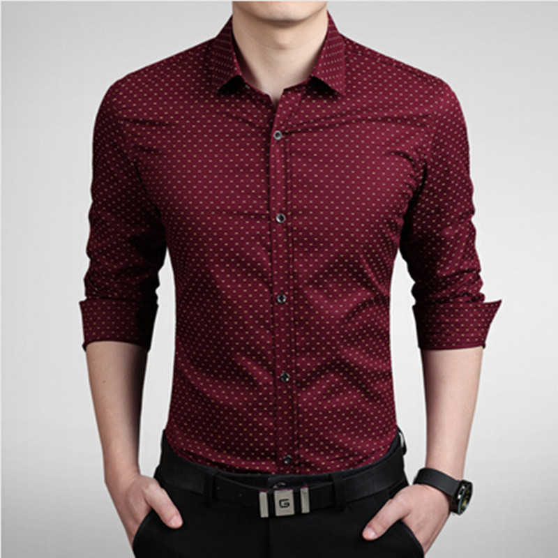 Casual Shirts Brilliant New Men Shirt Brand Male High Quality Long Sleeve Shirt Casual Solid Color Slim Fit Black Man Dress Shirts Camisa Masculina Attractive Designs;