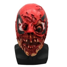 DeadPool Cosplay Horror Full Face Mask Halloween Stage Latex Mask Costume Party Entertainment Cool Play Halloween Party Props halloween props deadpool mask eco friendly resin cosplay party mask full face 11 6 7 inch