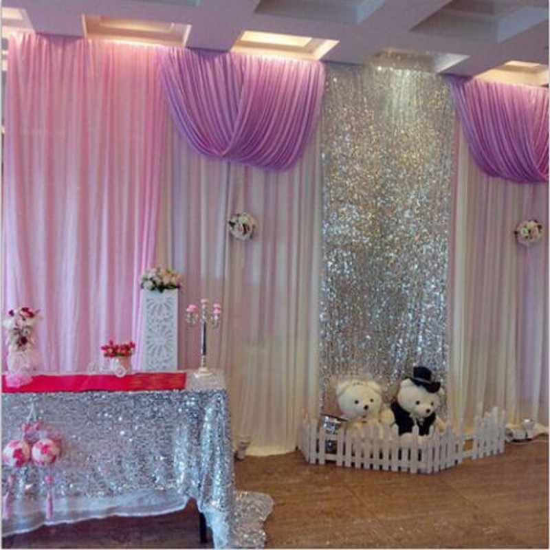 6 Colors 5FTx6FT Sequin Gauze background Curtain Sequined Costumes Marriage Party Christmas Decor