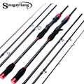 Sougayilang Carbon Fiber Spinning Casting Portable Fishing Rod 4 Sections Ultralight Travel Fishing Pole De Pesca