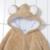 1 Unidades Clásico Mameluco Del Bebé con el cabo de Invierno de Manga Larga mameluco del Bebé del Equipo Infnt Jumpsuit Desgaste Oso Conejo Cerdo 3 colores