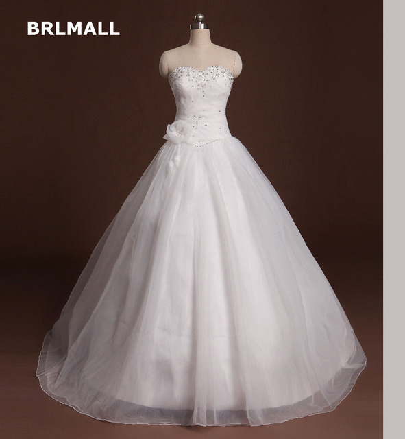 2017 Wedding Dress Vintage Beading Sweetheart Crystal Corset Bodice ...