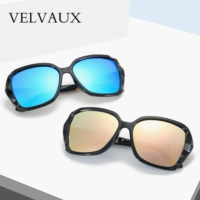a6b421b088 New Arrival VELVAUX Luxury Brand Design Sunglasses oversized Women Polarized  sun glasses high quality Female Prismatic Eyewear
