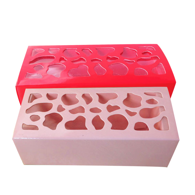 5Pcs Macarons Box Wedding Party Baking Decoration Chocolate Muffin Box Cake Decoration Macaron Packaging in Gift Bags Wrapping Supplies from Home Garden