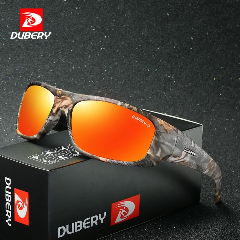 Мужские солнцезащитные очки DUBERY, поляризационные очки в стиле ретро для вождения, брендовые дизайнерские очки, модель Oculos1418, 2018