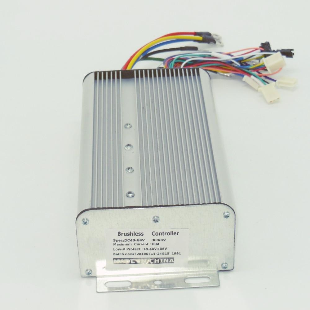 цена на 24FET 3000W 48-84V 80Amax BLDC motor controller, EV brushless speed controller, sensor&sensorless