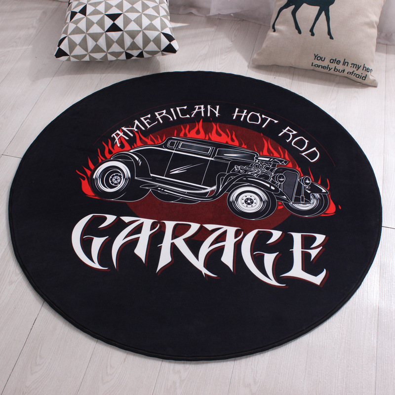 American Car Rugs And Garage Carpets For Boy Man Home Living Room Creative Decorative RV Bedroom Bathroom Cushion Hallway Mats