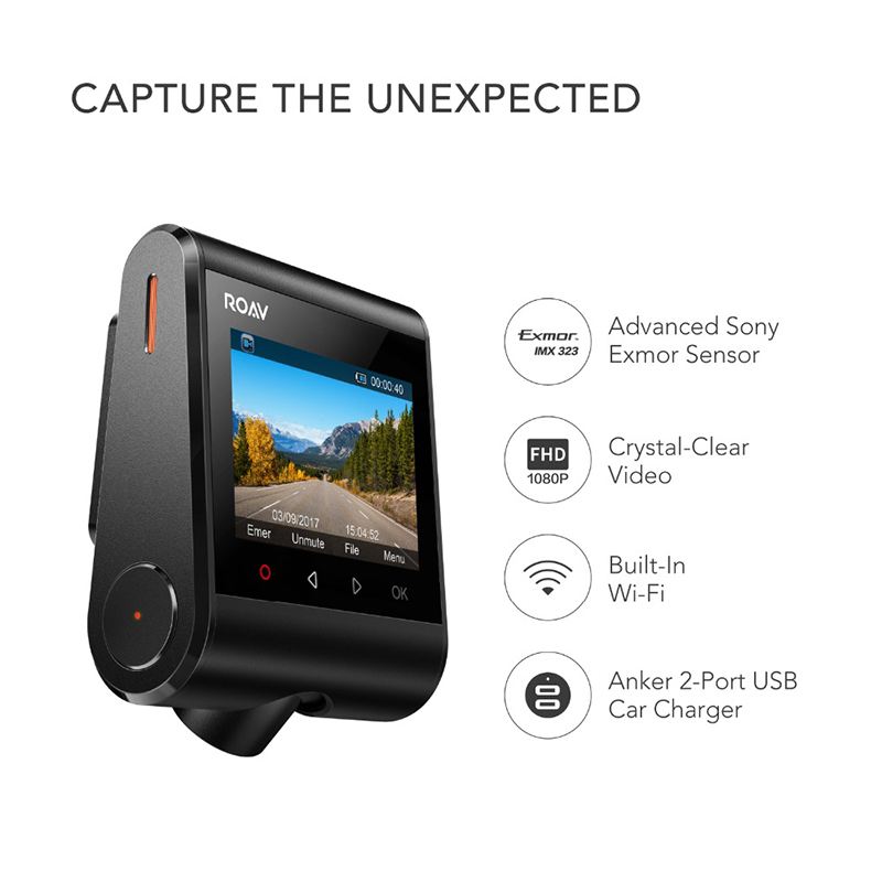 2018 Auto Parts 1080P FHD Dash Camera Car DVR Car Recorder 4-Lane Wide-Angle View Lens Built-in WiFi Car DVR Vehicle Dash