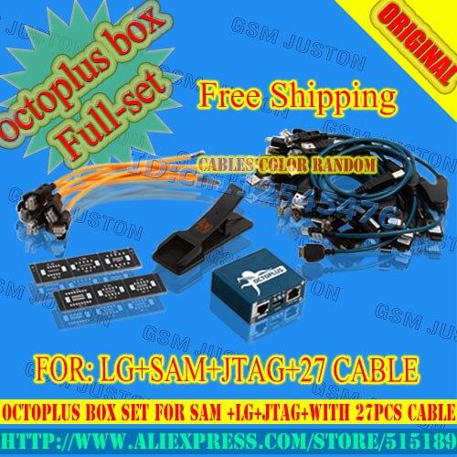 imágenes para Octoplus box con 25 unids cables trabajan para samsung y para lg + medua jtag activación + envío gratuito