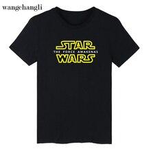 wangcangli 2017 Summer men's short sleeve T-shirt STAR WARS Star Wars men's cotton printing T-shirt loose white men and women