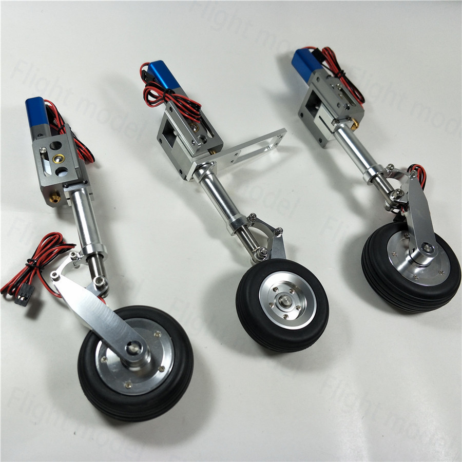 CYS R2290 High Quality Electric Retract Landing Gear With Wheel Controller Plate Brake System For RC