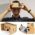 Venta caliente hecha a mano diy google cartón realidad virtual vr móvil Visualización 3D Gafas Para El Teléfono Móvil 5.0 Pantalla del teléfono 3D vidrio