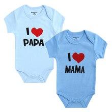 2PCS I Love Papa & Mama Onesies