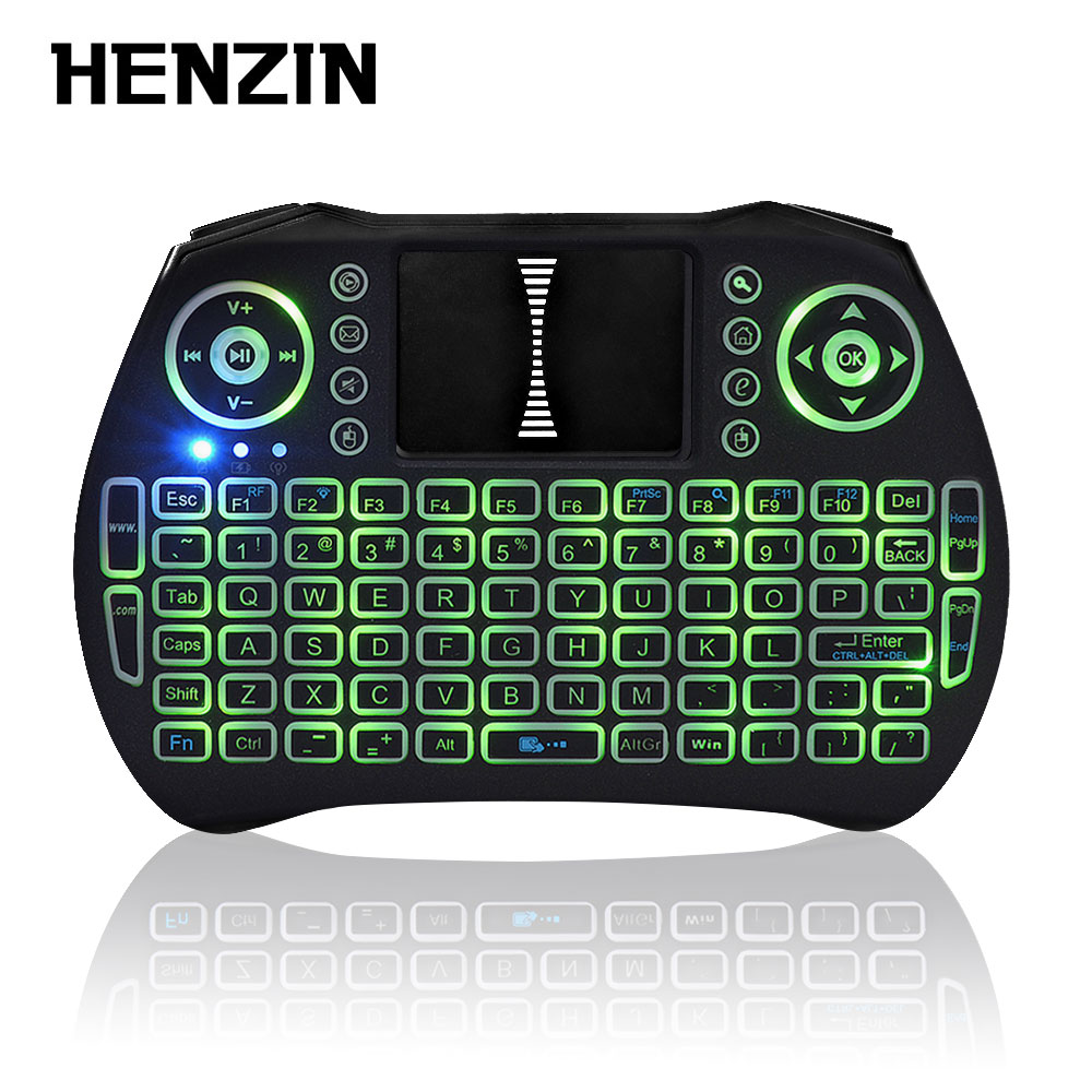 2.4G Mini Wireless Keyboard Touchpad Handheld Qwerty Keyboards Backlit Gaming Teclado For Laptop PC Android TV Box LOL Orange Pi