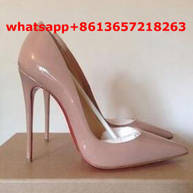 online retailer 07e16 50407 US $60.0 |2017 Brand Design Sapatos Femininos So Kate Patent Leather Pumps  Sexy Valentine Shoes Female Black/Nude Fashion Red Sole Shoes-in Women's ...