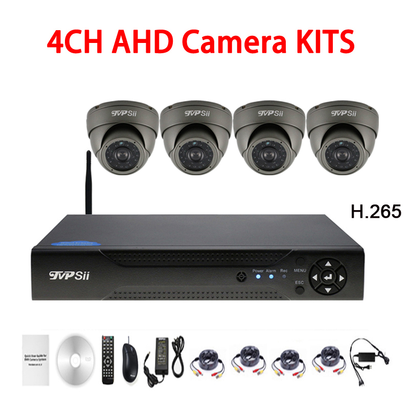 24 pcs Infrarouge Led H.265 5mp Sony335 Étanche 4CH 4 Channel Outdoor WIFI Dôme AHD CCTV Caméra de Surveillance Kits Livraison gratuite