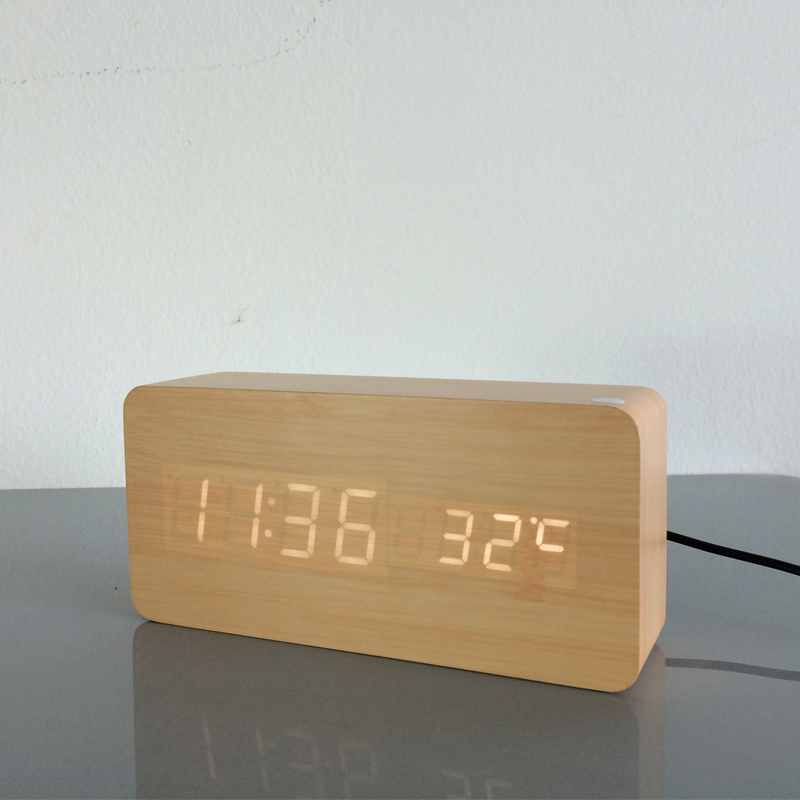 Image 5 - 2020 Best High end clocks,Thermometer Alarm clock LED Digital  Voice Table Clock,13 colors Digital Clock Battery/USB powertable  clockclock ledclock led digital