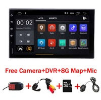 Android 8,1 автомобильный радиоприемник 7 дюймов 2din DVD 1024x600 gps навигация Bluetooth USB 2 din универсальный для Nissan VW Toyota peugeot плеер