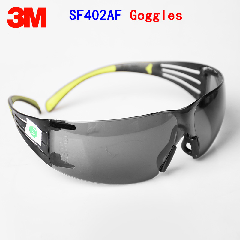 3M F402AF safety goggles Genuine security 3M goggles gray Anti-fog Anti-shock SF400 series protective goggles аккумулятор security force sf 1212