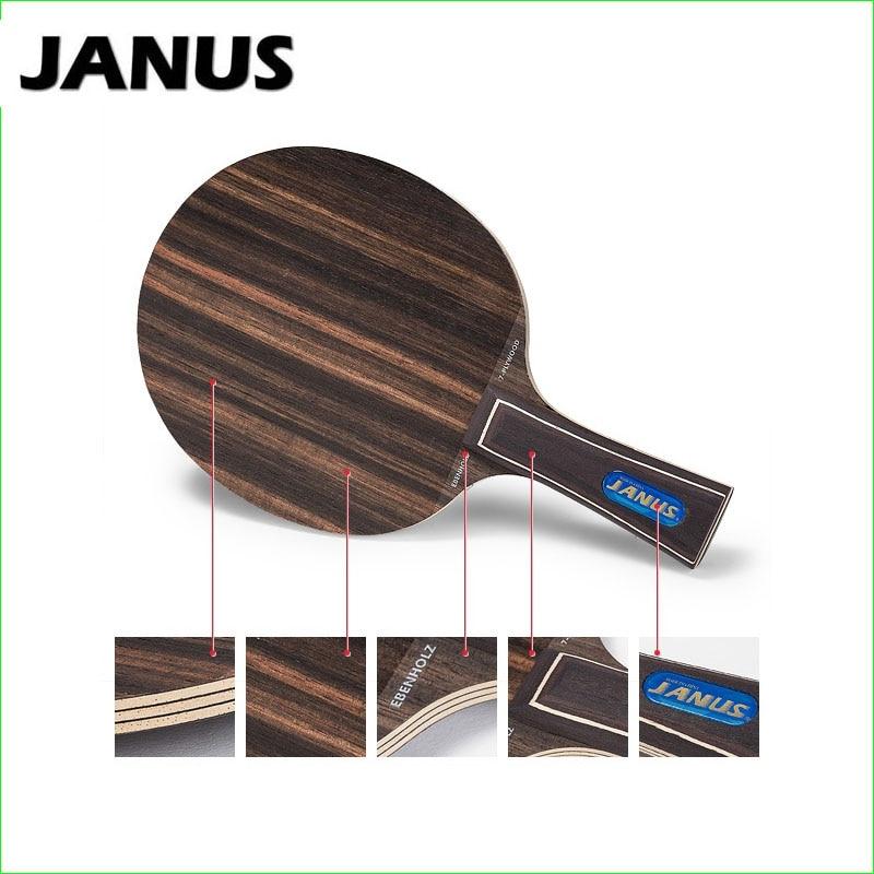 Professional Long Handle Ping Pong Paddle Black Sandalwood Table Tennis Racket 7 layer Fast Attack Loop