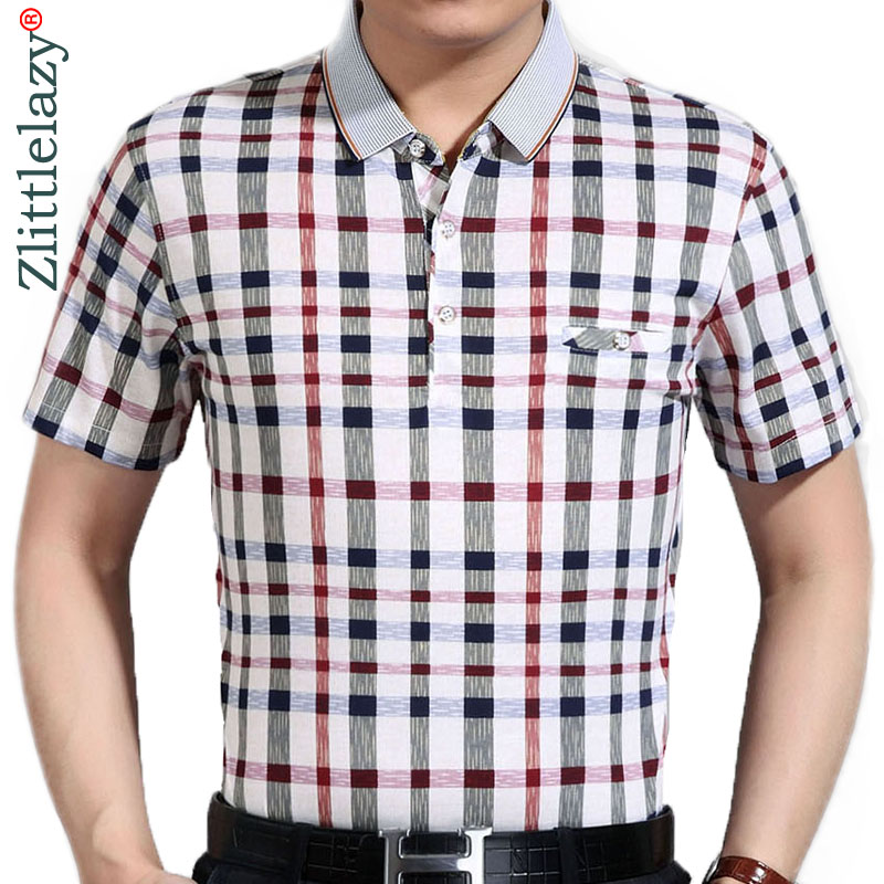 2019 new mens clothing short sleeve   polo   shirt summer pol men plaid brands   polos   tee shirts dress streetwear male poloshirt 199